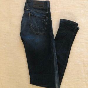 G-star Raw distressed skinny jean